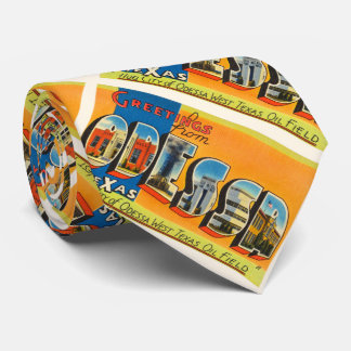 Odessa Texas TX Old Vintage Travel Souvenir Tie