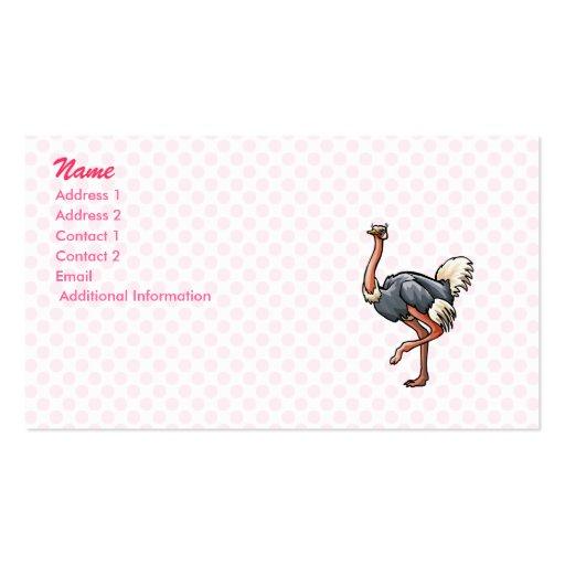 Odetta Ostrich Business Cards