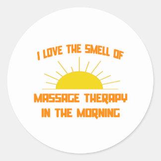 Odeur de thérapie de massage pendant le matin autocollants ronds
