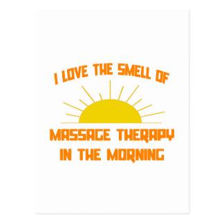 Odeur de thérapie de massage pendant le matin carte postale