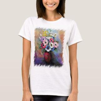 Odilon Redon Anemones - Fine Art Symbolism T-Shirt