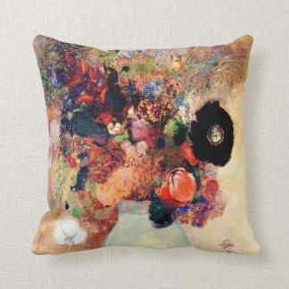 Odilon Redon - Black Poppy Throw Pillow