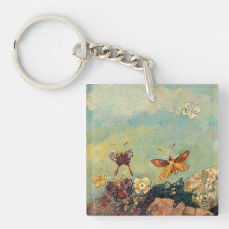 Odilon Redon Butterflies Vintage Symbolism Art Double-Sided Square Acrylic Keychain