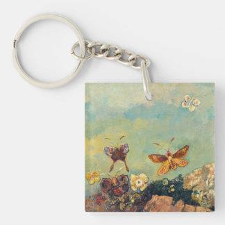 Odilon Redon Butterflies Vintage Symbolism Art Single-Sided Square Acrylic Keychain