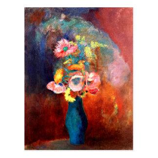 Odilon Redon - Ethereal Vase of Flowers Postcard