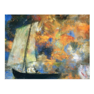 Odilon Redon- Flower Clouds Postcard