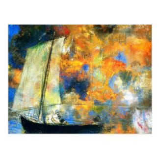 Odilon Redon - Flower Clouds Postcard