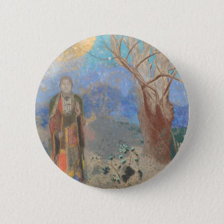 Odilon Redon: Le Bouddha, The Buddha 2 Inch Round Button