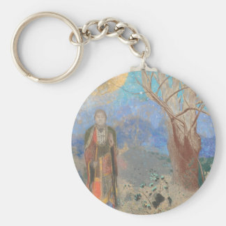 Odilon Redon: Le Bouddha, The Buddha Basic Round Button Keychain