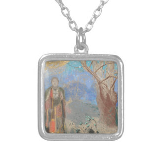 Odilon Redon: Le Bouddha, The Buddha Silver Plated Necklace