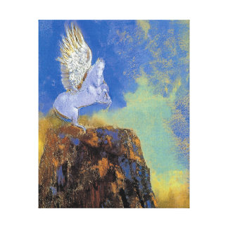 Odilon Redon Pegasus - Greek Mythology Symbolism Canvas Print