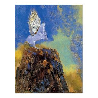Odilon Redon Pegasus - Greek Mythology Symbolism Postcard