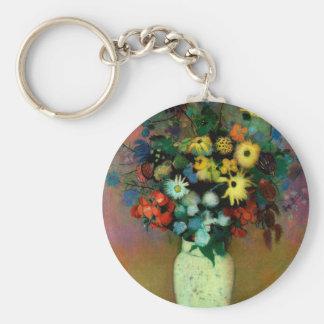 Odilon Redon's Vase with Flowers (1914) Basic Round Button Keychain