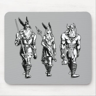 Odin, Freyja & Thor Mouse Pad