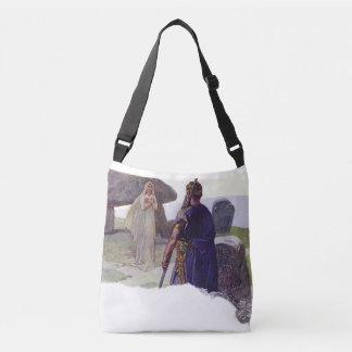 Odin in front of a Völva Crossbody Bag