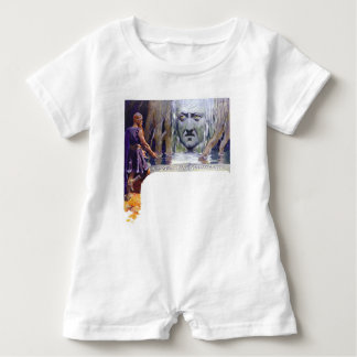 Odin in front of Mimir Baby Romper
