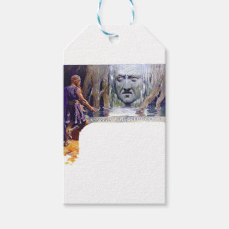 Odin in front of Mimir Gift Tags