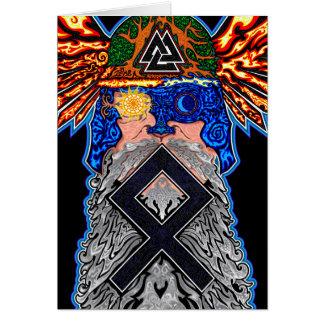 Odin - Othala - 02 Greeting Card