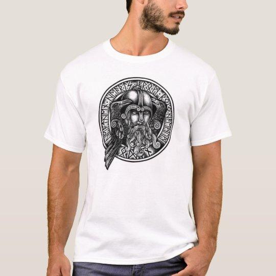 Odin Rune Shield Black & White T-shirt
