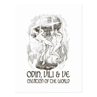 Odin, Vili and Ve Postcard