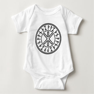 Odin's Protection No.2 (black white) Baby Bodysuit