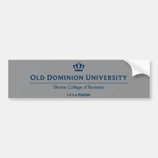 ODU Strome College of Business - Blue Bumper Sticker