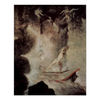 Odysseus In Front Of Scylla And Charybdis Poster