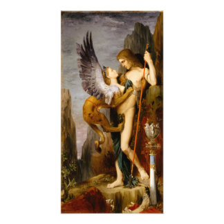 Oedipus and the Sphinx by Gustave Moreau Photo Print