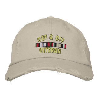 OEF& OIF Vet Embroidered Baseball Cap