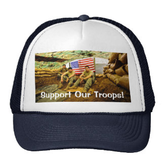 OEF Soldiers, Support Our Troops Trucker Hat