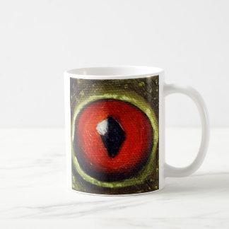 Oeil de grenouille agrandi mug à café