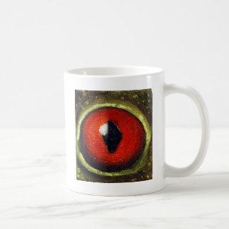 Oeil de grenouille agrandi mugs à café