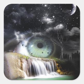 Oeil de la science fiction sticker carré
