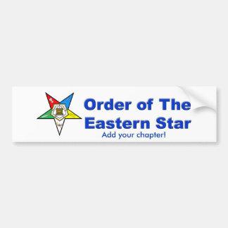 OES BUMPER STICKER, Add your chapter! Bumper Sticker