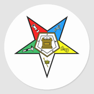 oes_chapter_clear round sticker