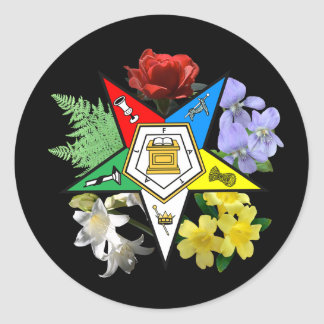 OES Floral Emblem sticker