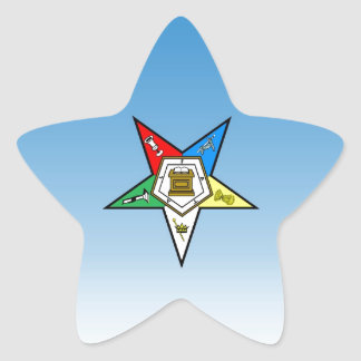 OES Order of the Eastern Star Blue Star Sticker
