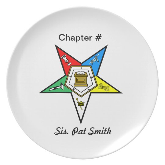 OES Order of the Eastern Star Plate