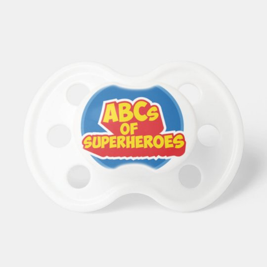 Of ABC OF Superheroes for the little ones Pacifiers