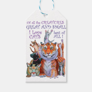 Of All the Creatures Great and Small Pack Of Gift Tags