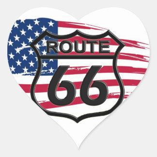 Of America route 66 Heart Sticker