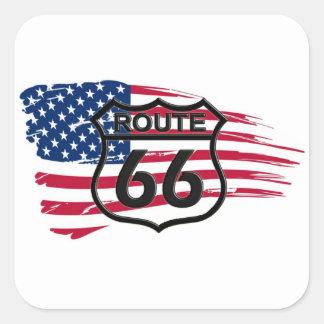Of America route 66 Square Sticker