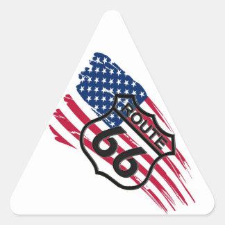 Of America route 66 Triangle Sticker