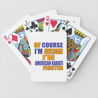 Of Course I Am American Karate Fighter Bicycle Playing Cards