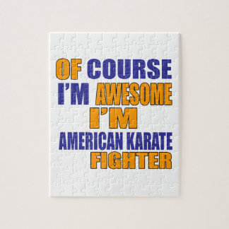 Of Course I Am American Karate Fighter Jigsaw Puzzle