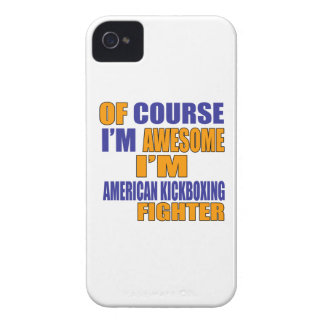Of Course I Am American Kickboxing Fighter iPhone 4 Case-Mate Case