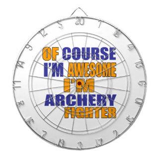 Of Course I Am Archery Fighter Dartboard