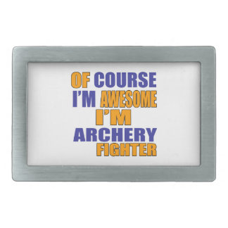 Of Course I Am Archery Fighter Rectangular Belt Buckles