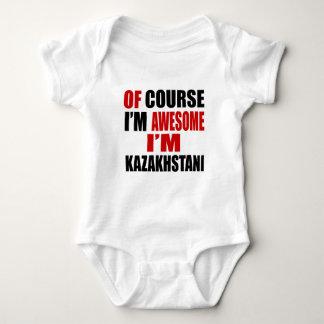 OF COURSE  I AM AWESOME I AM KAZAKHSTANI BABY BODYSUIT