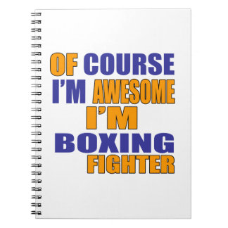 Of Course I Am Boxing Fighter Spiral Notebook